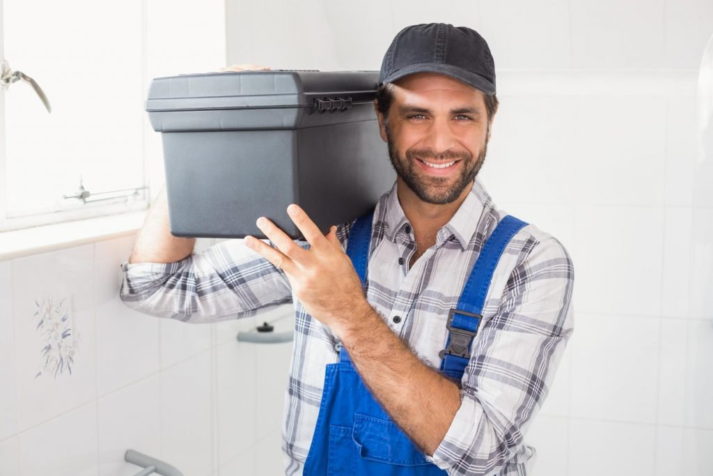 This is a picture of a plumber.